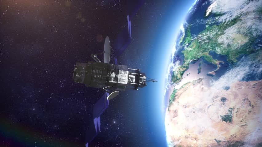 Space Satellite Stock Footage Video 3209254 Shutterstock