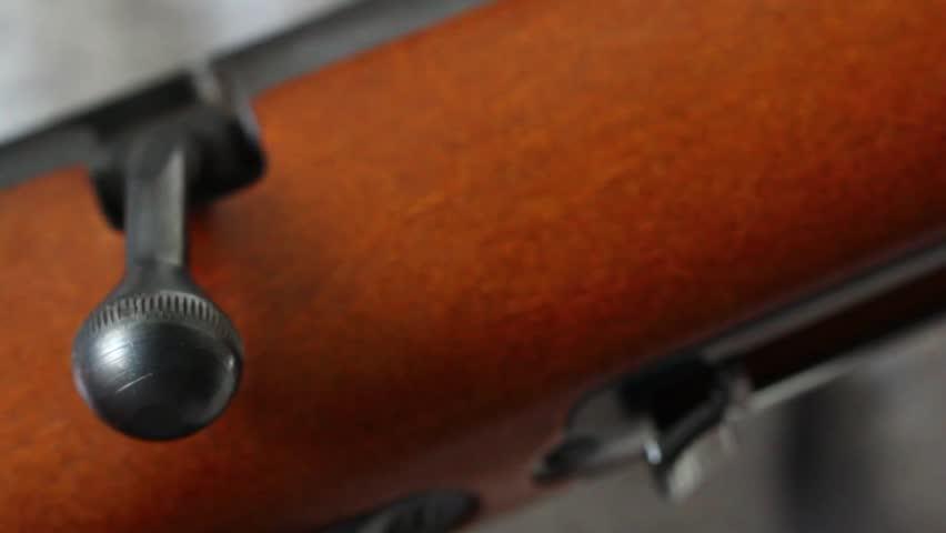Man holding a rifle