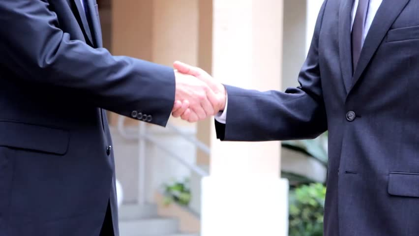 handshake business people - HD stock footage clip
