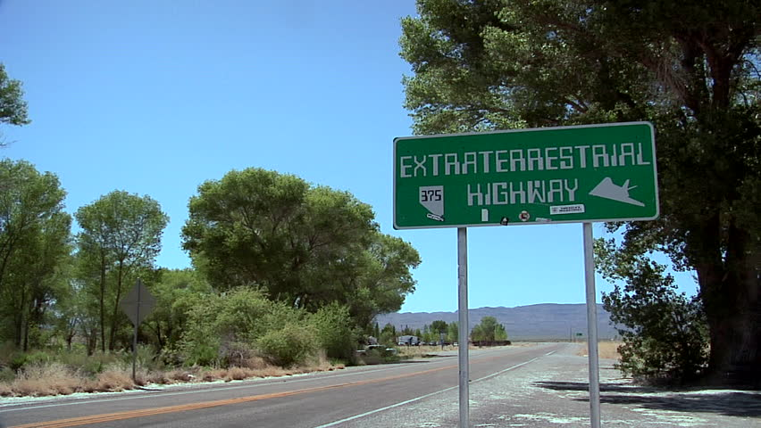 Signboard of the Extraterrestrial Highway No 375 - HD stock video clip