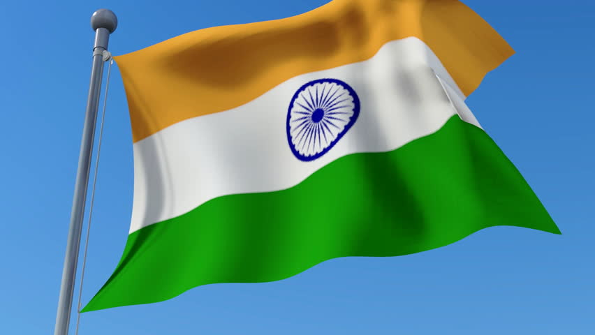 For Indian Flag Hd Animation: Flag Of USA And India Waving In The Wind Against Blue Sky