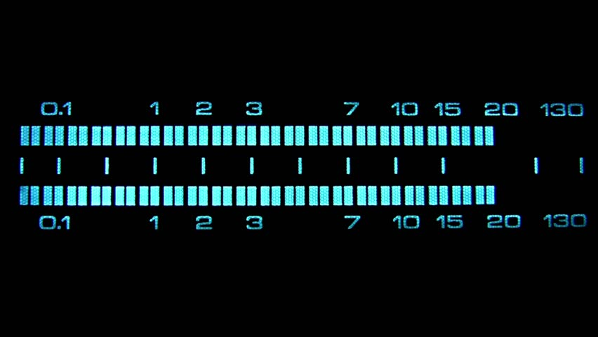 Digital Vu Meter : Digital sound vu meter equalizer stock footage video