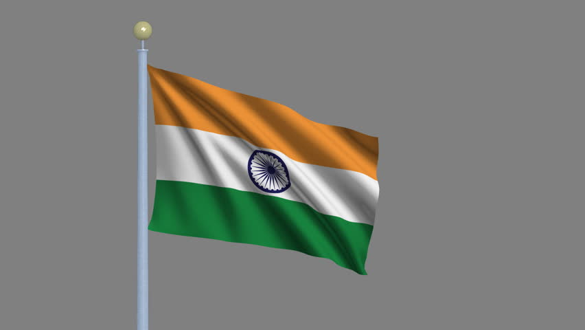 Indian Animated Flag Waving: Digital Animation Stock Footage Video
