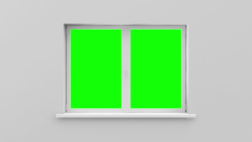 Animation of Opened Window with Green Screen and Alpha Channel (HD)