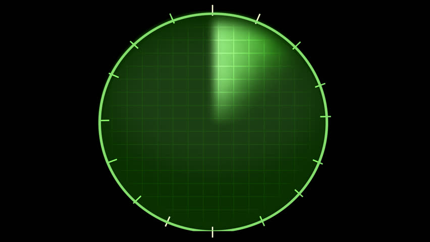 radar graphic, png alpha background - HD stock footage clip