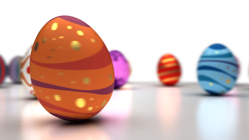 Easter Eggs Dancing - HD stock footage clip