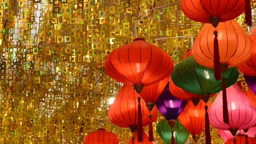 colorful lantern for chinese year