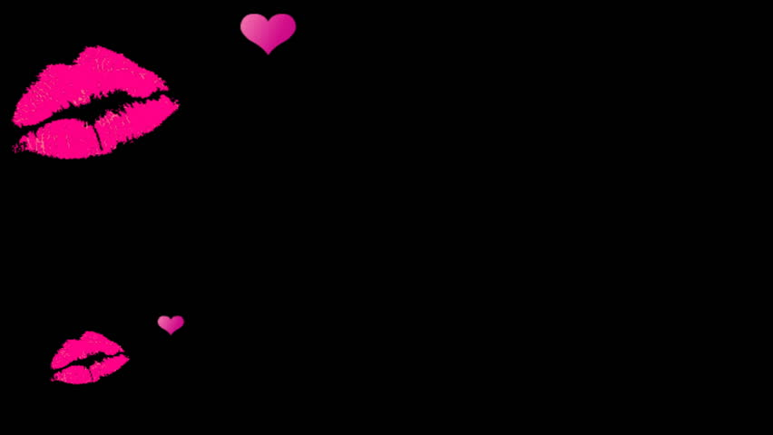 High definition sexy flying pink lips and hearts - Pink lips wallpaper ...