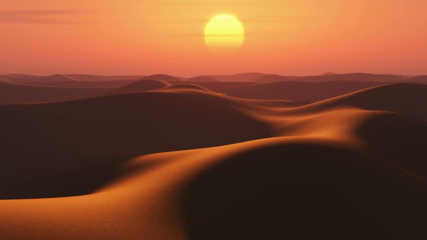 sunrise in desert, time lapse - HD stock footage clip