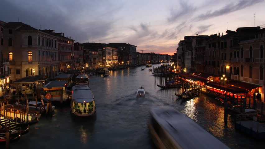 Venice at sunset - HD stock footage clip