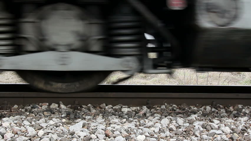 Passing cargo train ...