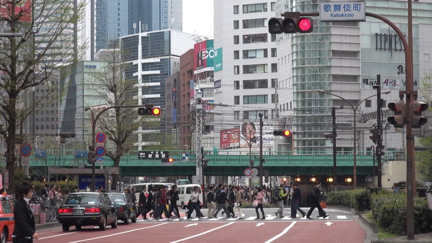 TOKYO - 10 APRIL 2012, Fast motion of car  traffic street by day - HD stock video clip