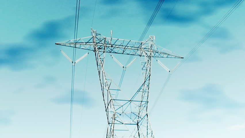 Power supplies Lines - HD stock footage clip