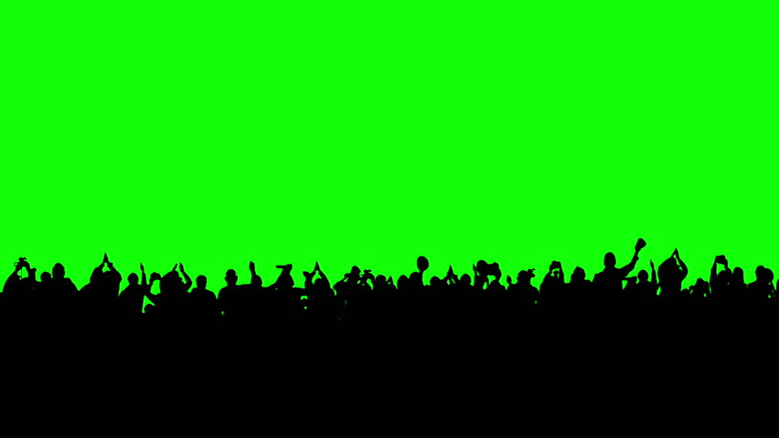 Crowd of people. Green screen. These people are real, shot on green screen. Check out other files from this series. | Shutterstock HD Video #3420926