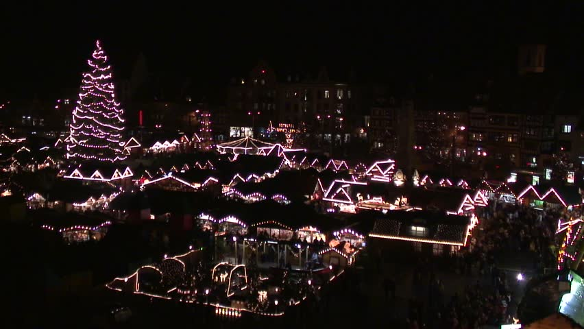 Christmas Market - HD stock video clip