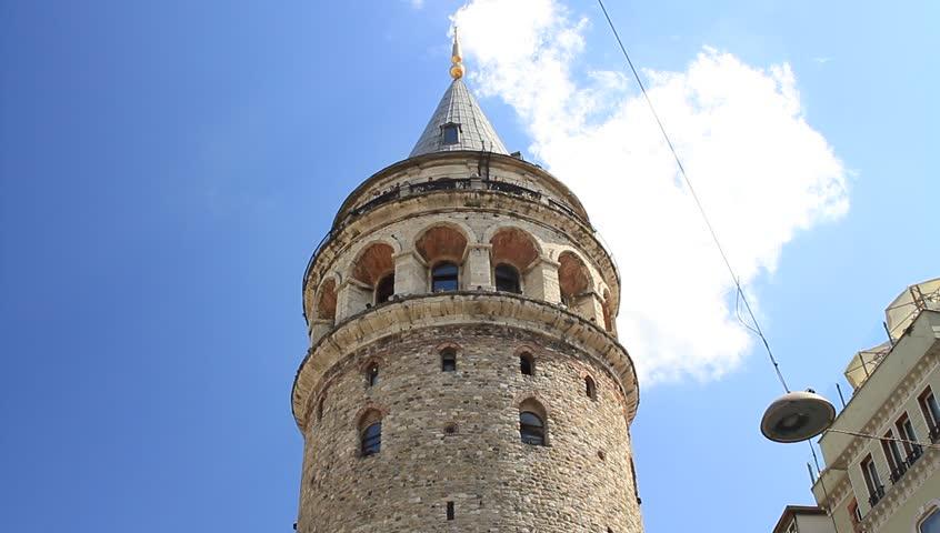Istanbul's Galata Tower. Beyoglu, Turkey