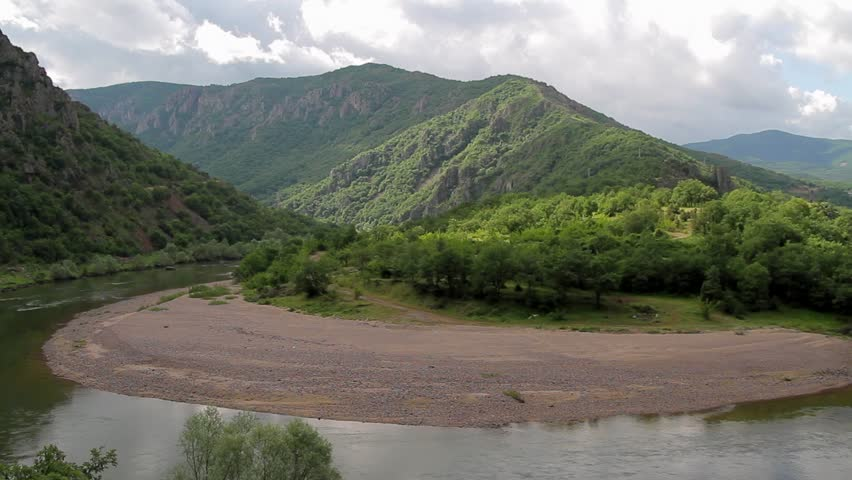 One of the beautiful meanders of Arda river in Rhodope mountains. South Bulgaria. #3454163