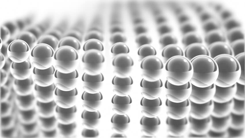 white glass moving spheres loopable background