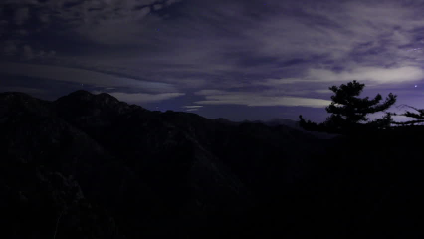 Night Sky Timelapse 04 Stars and Clouds TU Angeles Forest California