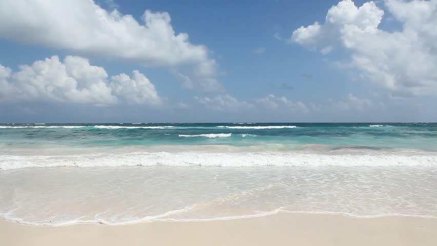 Beautiful beach. Tulum, Mexico.