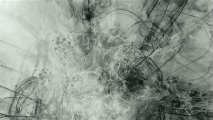 splash ink spot & clouds,wire lines.