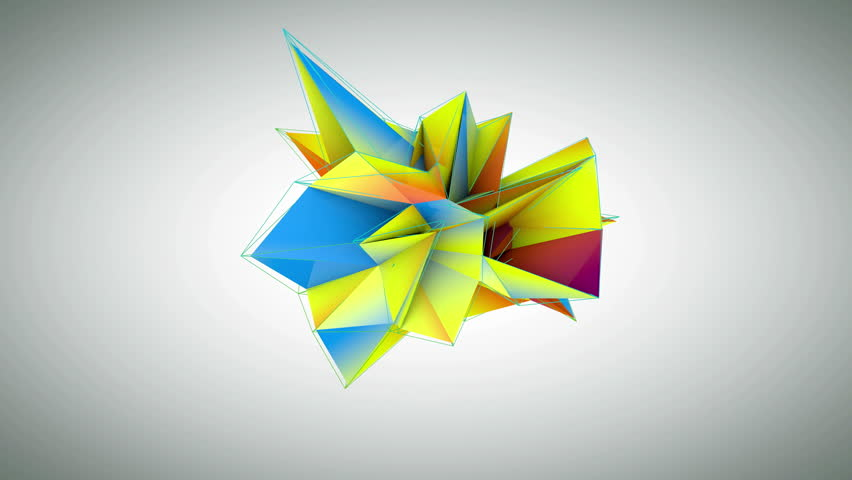 Collapsing triagonal abstract design