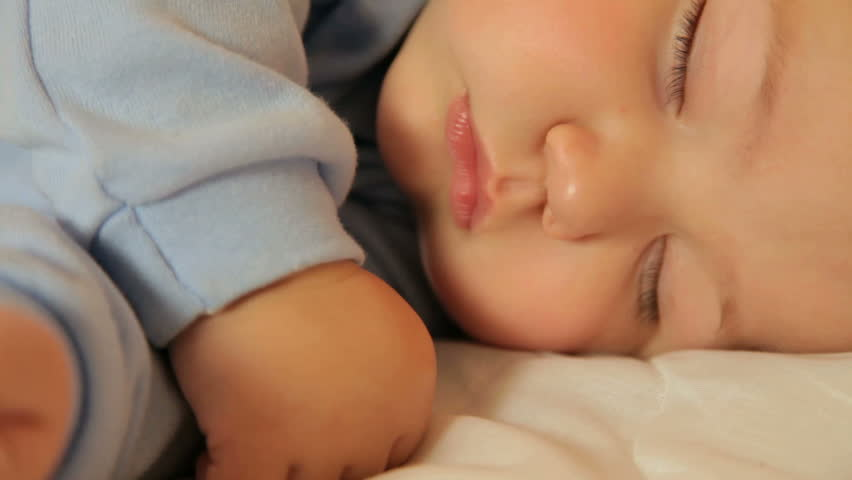 Baby sleeping face - HD stock video clip
