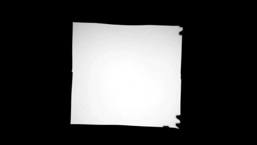 Blank slides frames loop for your title sequence or opening credits. Black and white background. - HD stock video clip