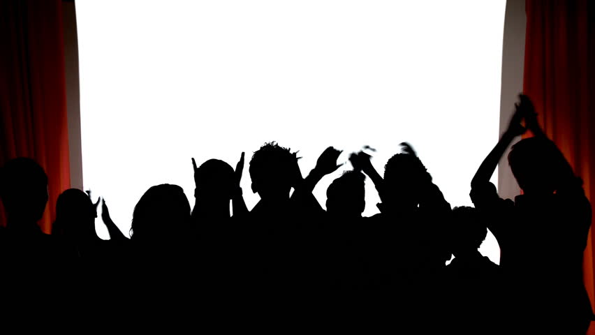 Theater Silhouettes. Silhouetted Theater Audience Applauds ...