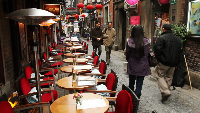 SHANGHAI - DECEMBER 21: Restaurant in Tianzifang. Tianzifang is a tourist
