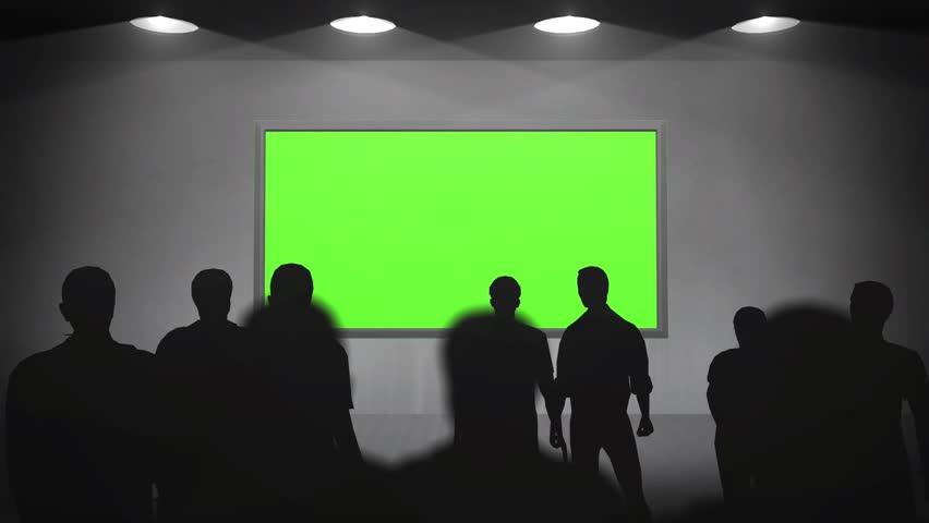 gallery walls green screen frame - HD stock video clip
