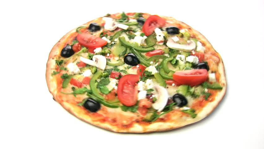 Pizza Slices Taken (HD). Pepperoni And Vegetable Pizza With Slices ...