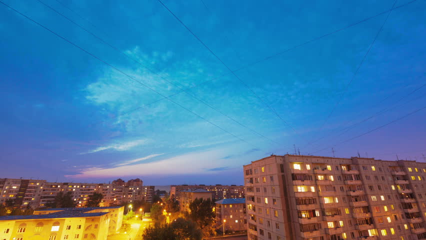 Day to Night, Time Lapse - HD stock footage clip