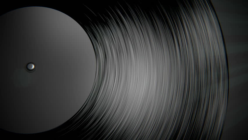 Loopable Animation With Spinning Vinyl Disc Perfect For