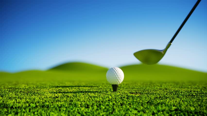 Slow Motion Golf strike. - HD stock video clip