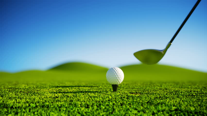 Cg Of Golf Ball Being Hit By Club Stock Footage Video