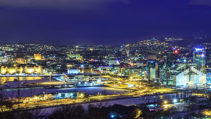 Dawn Over Oslo, Norway. Common Species Stock Footage Video 3658766 ...