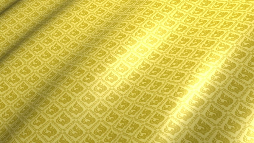 Thai Pattern Fabric Abstract Background, Slowly Moving In