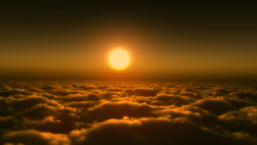 Setting sun with clouds | Shutterstock HD Video #3666383