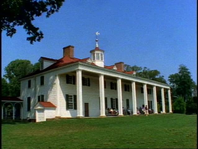 Mount vernon george washington plantation stock footage for George washington plantation