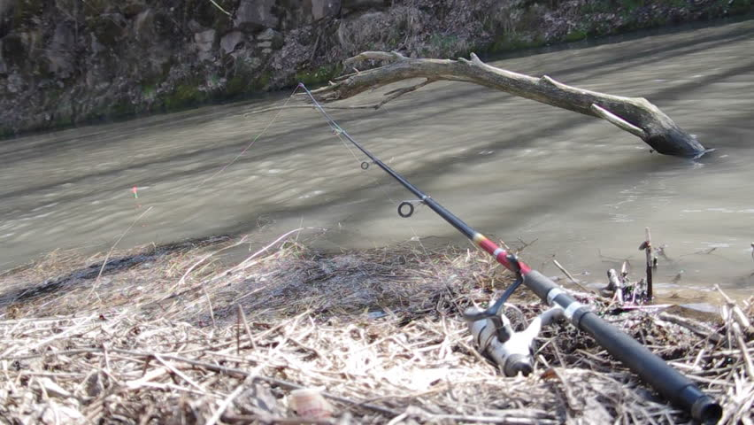 Colorful float fishing rods stock footage video 3817796 for Float fishing rods