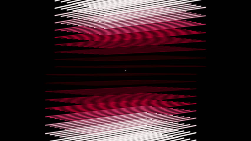 futuristic video animation with moving stripe object and blinking light, loop HD 1080p - HD stock video clip