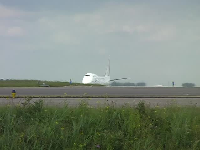 Airplane taking off from Schiphol airport in the Netherlands - SD stock footage clip