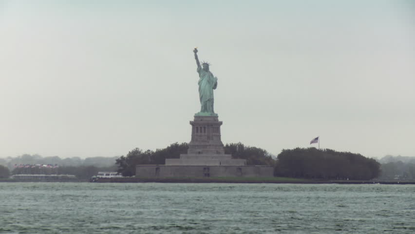 Image result for picture of the Statue of Liberty from a boat