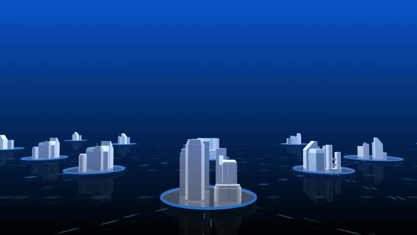Network City 4. - HD stock video clip