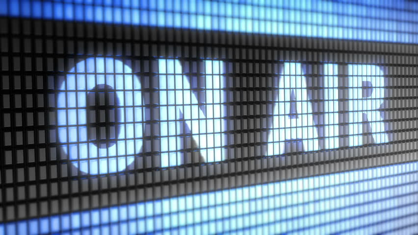 """ON AIR"" on screen. Looping. - HD stock footage clip"