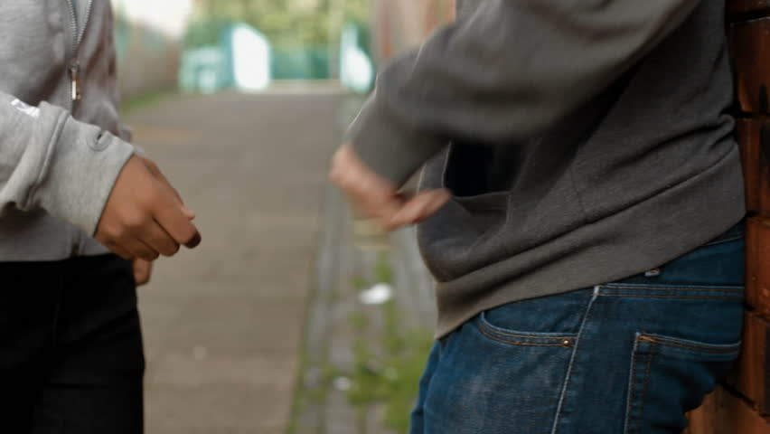 Drug Dealing - teens buy and sell cannabis