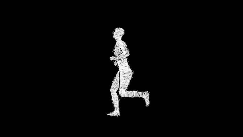Man running - Rotoscoping technique animation