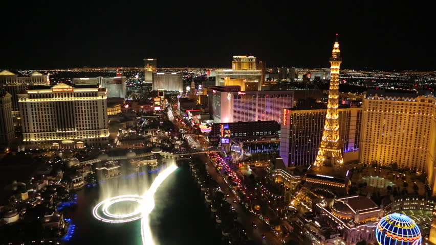 Las Vegas strip at night | Shutterstock HD Video #3791204