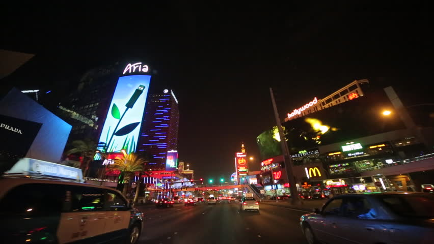 Las Vegas strip driving shot at night | Shutterstock HD Video #3797801